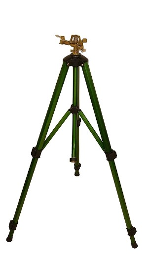 "QVS STANDARD 425-TRI-BX 1/2"" Metal Adj. F/P Circle Impact Sprinkler / Ext. Aluminum Tripod - Extends to 44""etal Impact Sprinkler / Extends to 44"""
