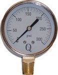 QVS 0-30 PSI Dry Gauge with Lower Connection