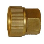 "QVS - 3/4""FHT x 1/2""FPT Brass Swivel Female Hose Adapter"