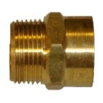 "QVS - 3/4""FHT x 3/4""MPT Brass Female Hose Adapter"