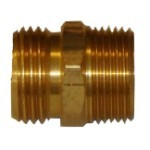 "QVS - 3/4"" MHT x 3/4"" MPT-1/2"" FPT Brass Double Male Hose Adapter"