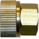 "QVS - 3/4""FHT x 1/2""FPT Brass Female Hose Adapter"