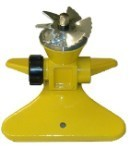 QVS 004403 PRO SERIES - Turbo Driven Full CIrcle Sprinkler with Zinc Die Cast Metal Base/Flow Through