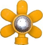 QVS 004038 STANDARD SERIES - Yellow Flower Metal Round Pattern Sprinkler / Powder Coated / Coverage Up to 30' Diameter