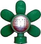 QVS 004052 STANDARD SERIES - Green Flower Metal Rectangle Pattern Sprinkler / Powder Coated / Coverage Up to 30' x 20'
