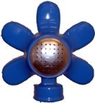 QVS 004076 STANDARD SERIES - Blue Flower Metal Square Pattern Sprinkler / Powder Coated / Coverage up to 25' x 25'